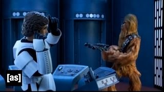 getlinkyoutube.com-What does this button do? | Robot Chicken Star Wars | Adult Swim