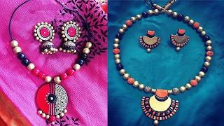 getlinkyoutube.com-Terracotta Beads Making || How to Making  Terracotta Bead || How to Make Clay Beads | womens special