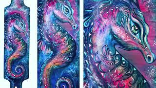 getlinkyoutube.com-Painting Longboard Seahorse. NK