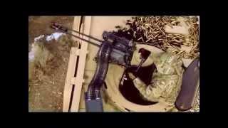 getlinkyoutube.com-GAU-19/A is a three-barrel 12.7mm Gatling gun  General Dynamics