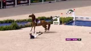 getlinkyoutube.com-Jeux Equestres Mondiaux : chute de Pénélope Leprévost, CSO du 6 septembre