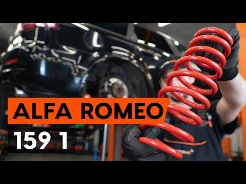 Cum se inlocuieste arc de suspensie din spate ALFA ROMEO 159 1 (939) (TUTORIAL AUTODOC)