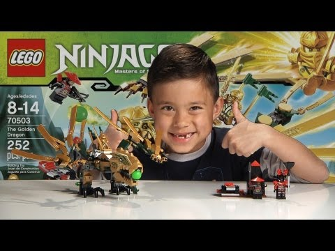 THE GOLDEN DRAGON - LEGO NINJAGO Set 70503 - Time-lapse Buil