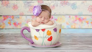 How to stuff a bucket. Newborn photography tutorial.