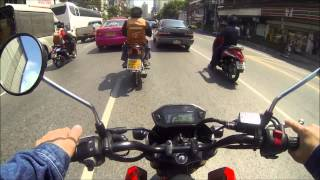 getlinkyoutube.com-Honda grom / msx bangkok ride with yoshimura rs-9 full system / K&N air filter