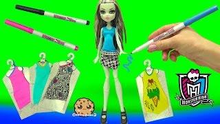 getlinkyoutube.com-Custom Dress Designer Booo-tique Monster High Doll & Marker Playset - Cookieswirlc Video