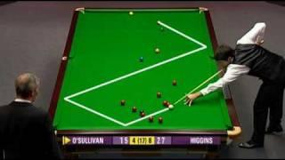 getlinkyoutube.com-UK Championship 2009 Day 8. OSullivan — Higgins. Frame 13, weird situation