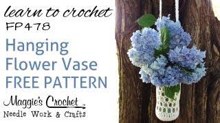 getlinkyoutube.com-Crochet Free Pattern Beginner Flower Vase How To With Maggie Weldon
