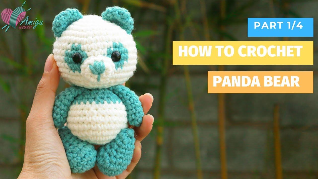 Amigurumi Panda free crochet pattern by AmiguWorld