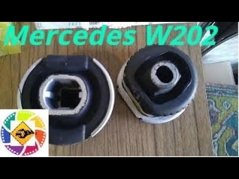 Mercedes C 202 замена задних сайлент блоков резиновых тулок