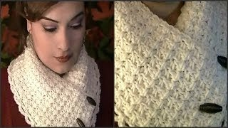 How To Crochet A Collar Scarf ~ Tutorial