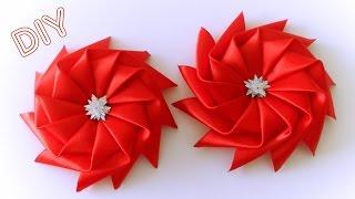 getlinkyoutube.com-Бантик Звездочка из Ленты / Star Ribbon Bow Tutorial / ✿ NataliDoma