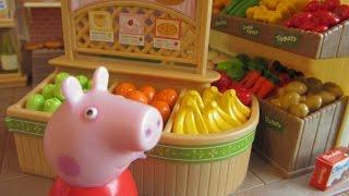 getlinkyoutube.com-Свинка Пеппа и вся семья едут в супермаркет за покупками
