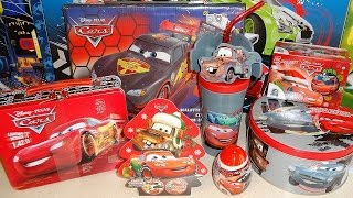 getlinkyoutube.com-Disney Cars & Planes Collectors Tins Set + Surprise Eggs & Box Unboxing