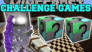 getlinkyoutube.com-Minecraft: GHOSTLY HORSEMAN CHALLENGE GAMES - Lucky Block Mod - Modded Mini-Game