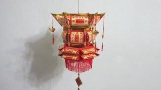 getlinkyoutube.com-CNY TUTORIAL NO. 17 - How to make Traditional Red Packet (Hongbao) Lantern