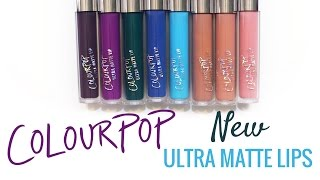 ColourPop Ultra Matte Lip Swatches (8 New Shades)