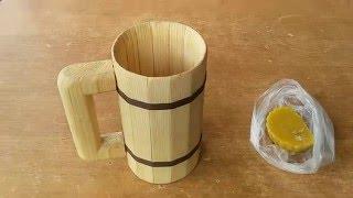 getlinkyoutube.com-Дерев'яний кухоль (кружка) власними руками / How to make a Wooden Mug