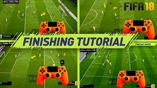 FIFA 18 FINISHING TUTORIAL - SECRET SHOOTING TIPS & TRICKS - HOW TO SCORE GOALS (H2H & FUT) width=