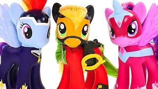 getlinkyoutube.com-Superhero POWER PONIES My Little Pony Friendship is Magic Pinkie Pie Rainbow Dash Twilight Sparkles