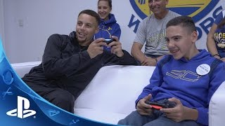 getlinkyoutube.com-PlayStation HEROES: Stephen Curry makes a wish come true for Shawn Rocha