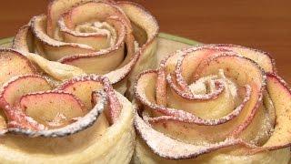 """getlinkyoutube.com-""""Розы"""" из яблок и слоеного теста / Простые рецепты домашней выпечки"""
