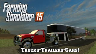 getlinkyoutube.com-Farming Simulator 2015: Mod Spotlight #74: Trucks-Trailers-Cars!