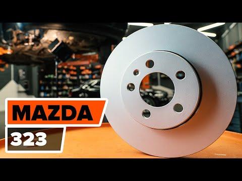 Где у Mazda 121 передние тормозные диски