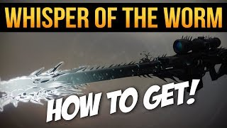Destiny 2: BLACK SPINDLE! 'Whisper of the Worm' Sniper - How to Get (Guide) width=