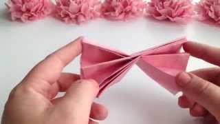 getlinkyoutube.com-DIY Tissue Paper Flower Tutorial