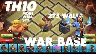 getlinkyoutube.com-clash of clans-TH10 WAR BASE ANTI 2 STAR +25  WALLS SPEED-BUILD