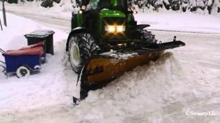 getlinkyoutube.com-John Deere 6430 Plowing Snow