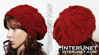 getlinkyoutube.com-How to crochet a hat - slouchy hat crochet pattern