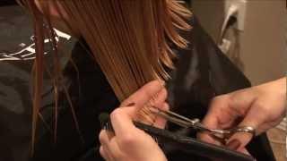 getlinkyoutube.com-HOW TO CUT GIRLS HAIR // Basic Girls Trim // hair tutorial