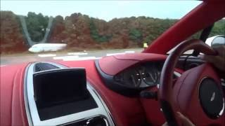 getlinkyoutube.com-200 MPH Ride in Aston One 77+ amazing sounds top speed run!