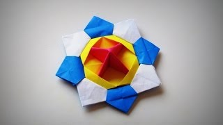 getlinkyoutube.com-Origami - How to make a SPINNING TOP (new POV video)