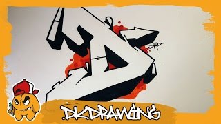 getlinkyoutube.com-Graffiti Alphabet Tutorial - How to draw graffiti letters - Letter D