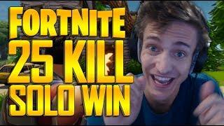 INSANE 25 Kill Solo Win - Fortnite Battle Royale Gameplay - Ninja