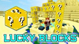 getlinkyoutube.com-LUCKY BLOCKS DESERT BATTLE ARENA MOD CHALLENGE - MINECRAFT MODDED MINI-GAME!
