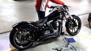 Harley Davidson FXSB Breakout V&H Big Radius 2-2 Mit EG-ABE Test