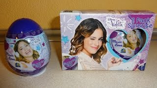 getlinkyoutube.com-4 Surprise Eggs Disney Violetta Toys Unboxing - Huevos Sorpresa