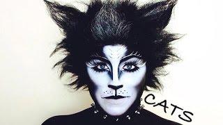 getlinkyoutube.com-CATS BROADWAY MUSICAL MAKEUP TUTORIAL - NYX FACE AWARDS 2014 CHALLENGE 4