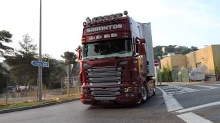 getlinkyoutube.com-Scania R V8 ''Red Formula'' By Sarantos Petropoulos and Powered