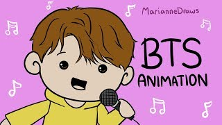 BTS Animation   Karaoke! (The Game Show PART 2)