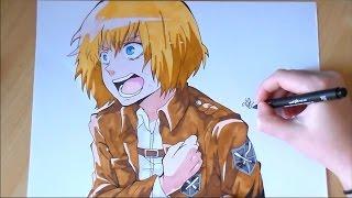 getlinkyoutube.com-SPEED DRAWING Armin Arlert【Shingeki no Kyojin】