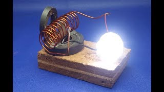 free energy  generator  with  light bulb || simple at home 2018 width=