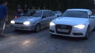 Audi A4 3.0T quattro VS Vaz 2114 1.6 Turbo 240 л.с.