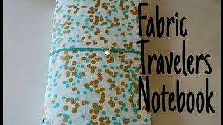 getlinkyoutube.com-Fabric Travelers Notebook