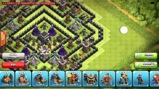 CLASH OF CLANS[BEST TH9 ANTI GOWIPE,DRAGON,BALLOON]!