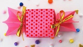 getlinkyoutube.com-DIY Crafts Ideas : How to make Cute Origami Candy Box   Kids Fun Crafts